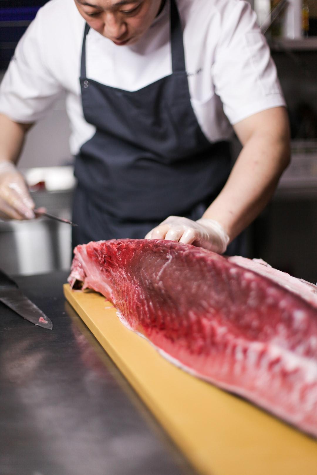 Blue fin tuna, Chef, Asian