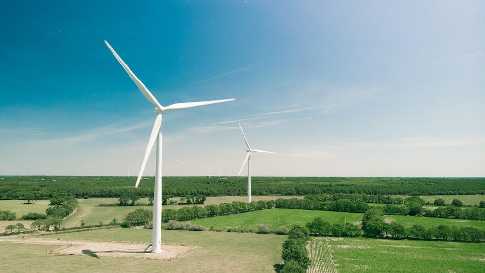white windmill during daytime