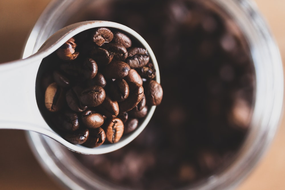 coffee beans on cup