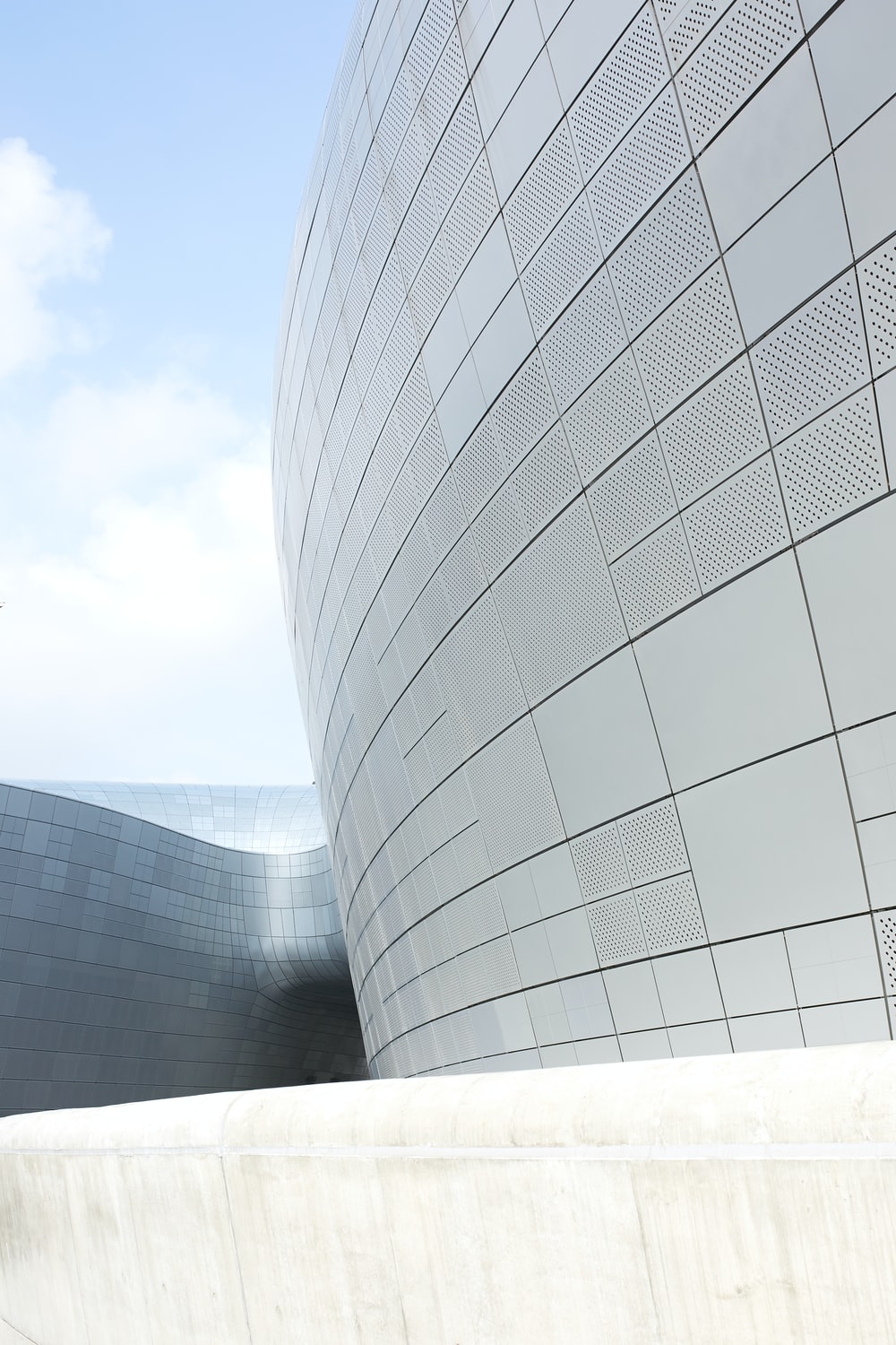 curved building facade