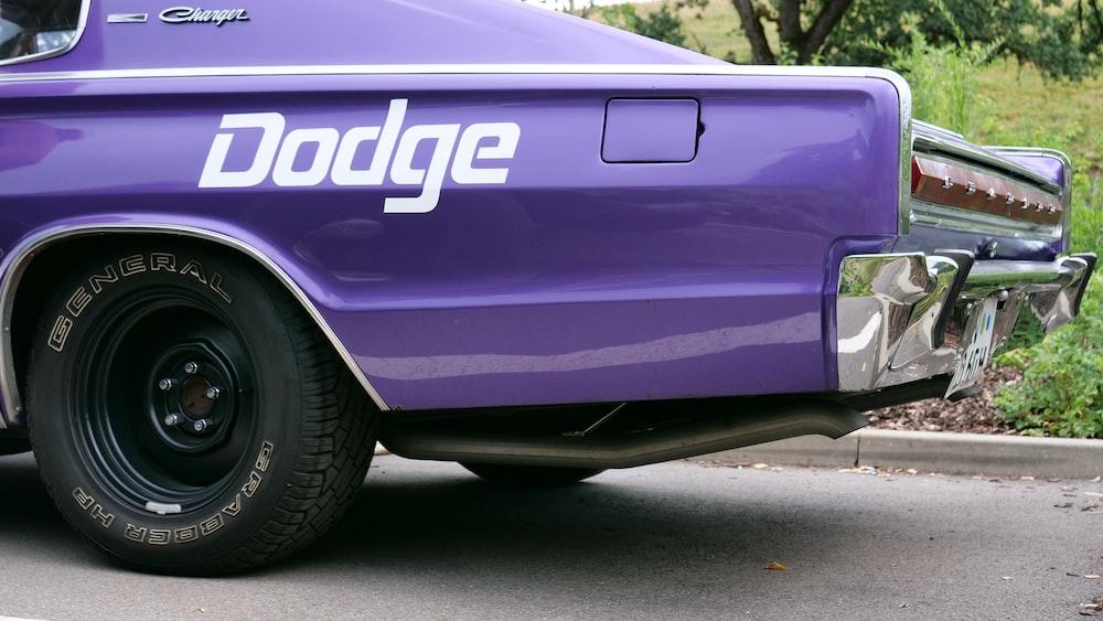 purple Dodge car