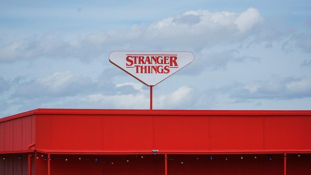 Stranger Things signage