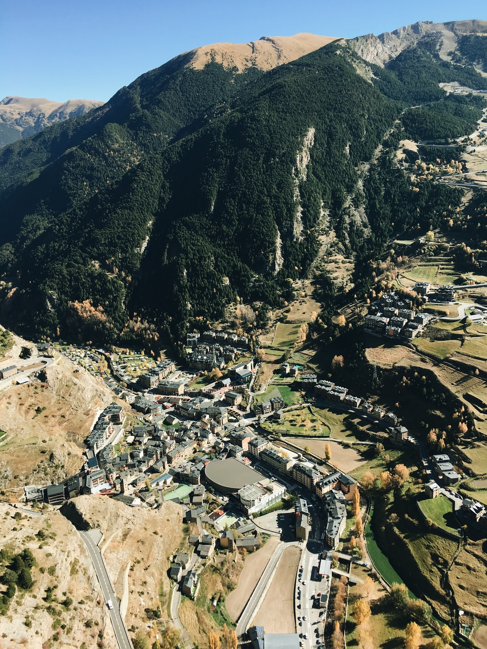 aerial photography of mouontain