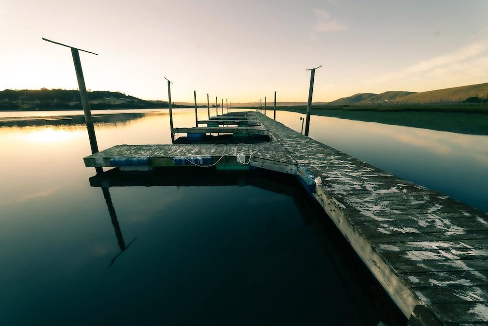 gray concrete boatyard