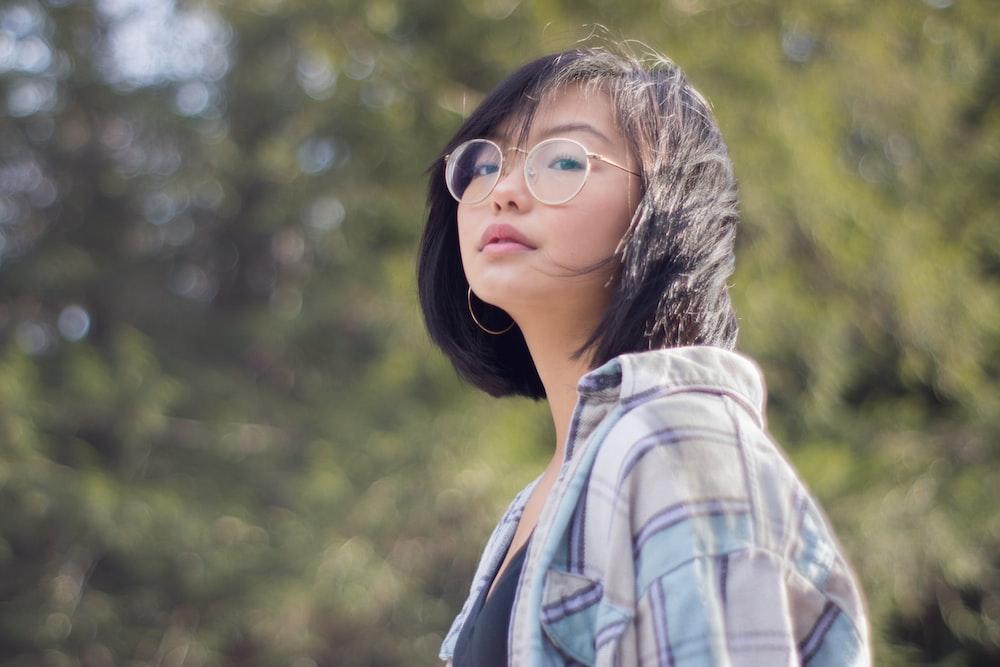 women wearing a eyeglasses during daytime
