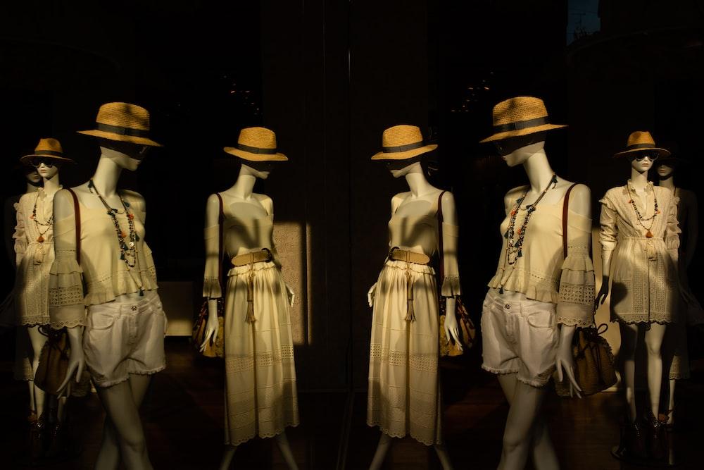 six dress forms