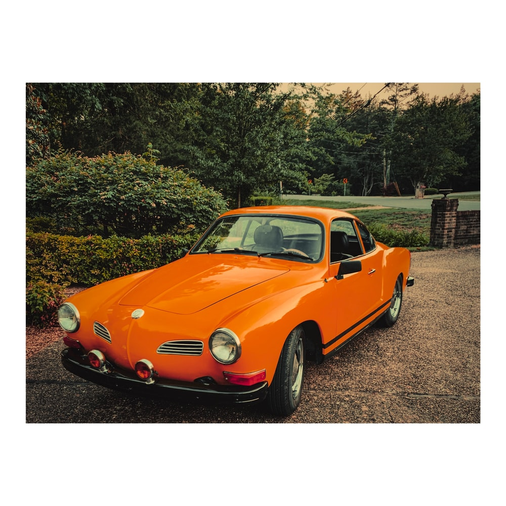 orange Volkswagen Karmann ghia