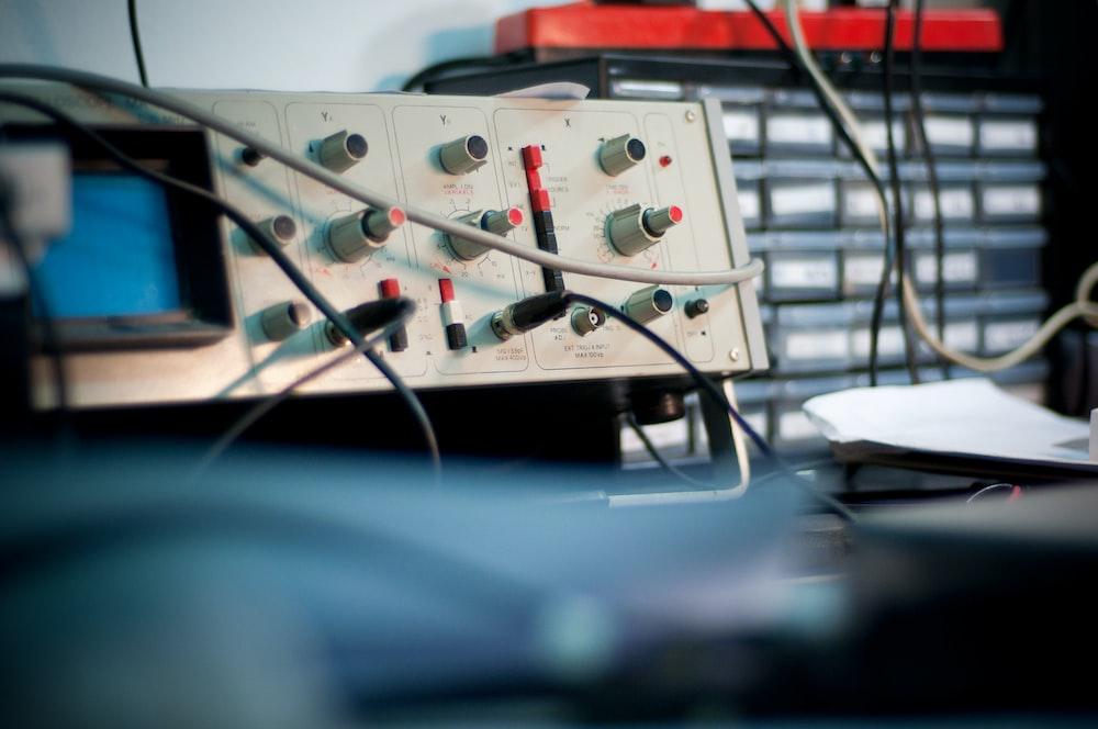 white audio mixer