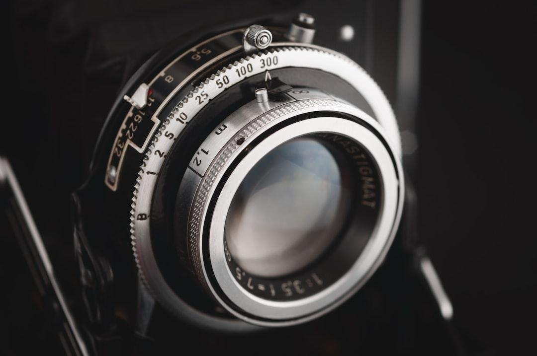 vintage folding camera lens