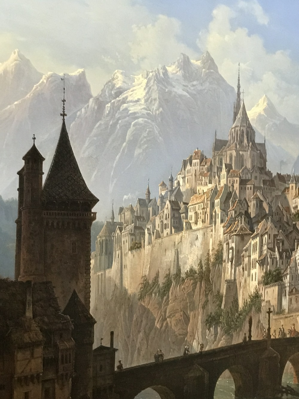 brown and gray castle near mountain