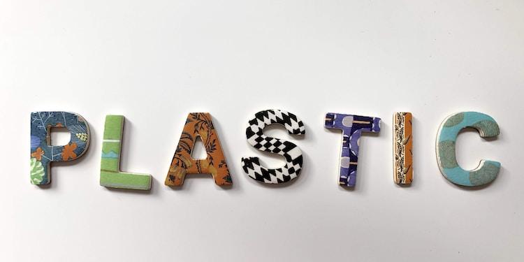 assorted-color plastic letter decor