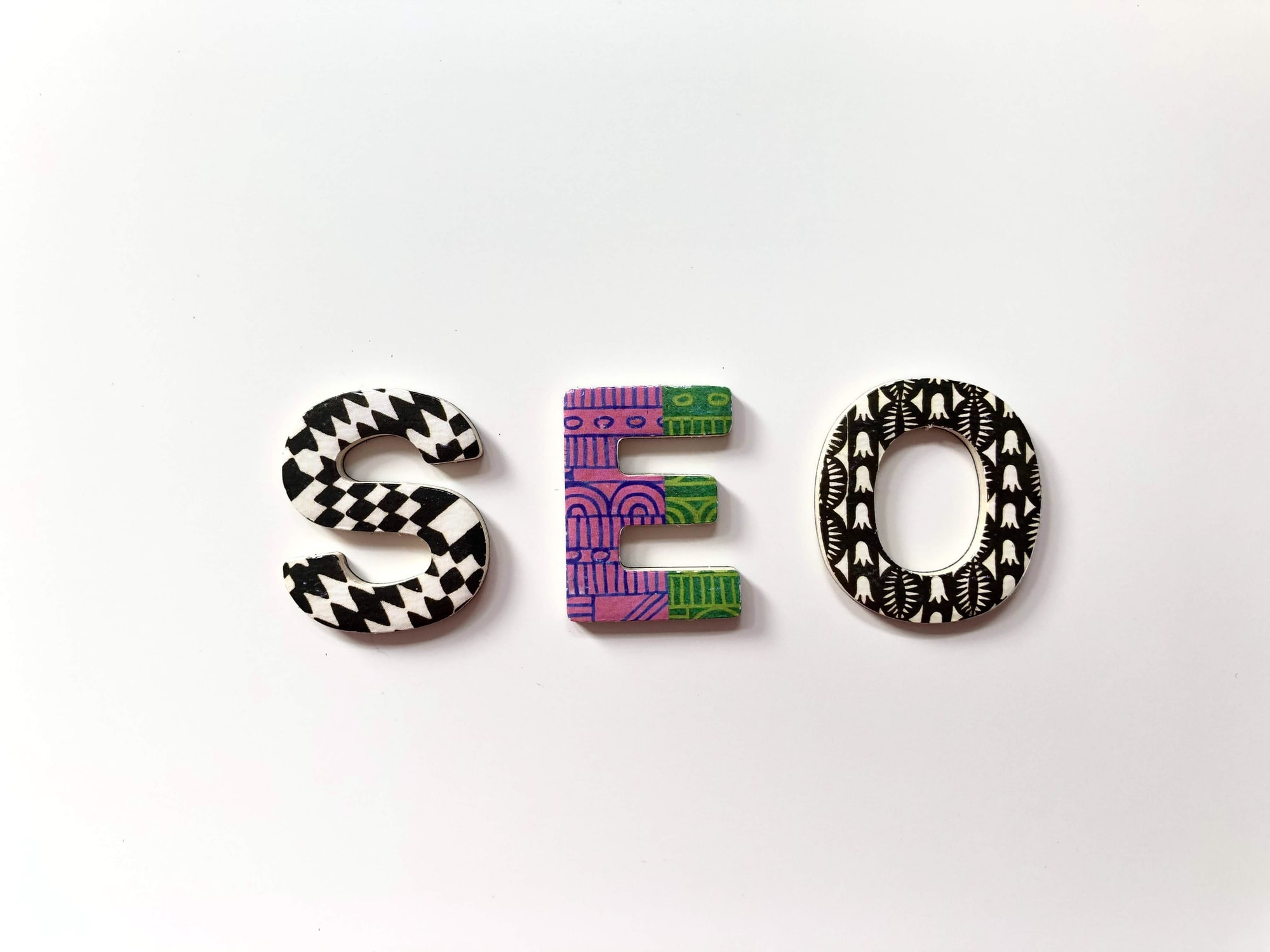 SEO in Colorful Alphabets