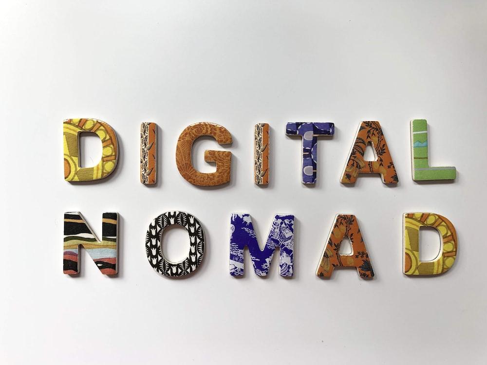 assorted-color digital nomad letter decor