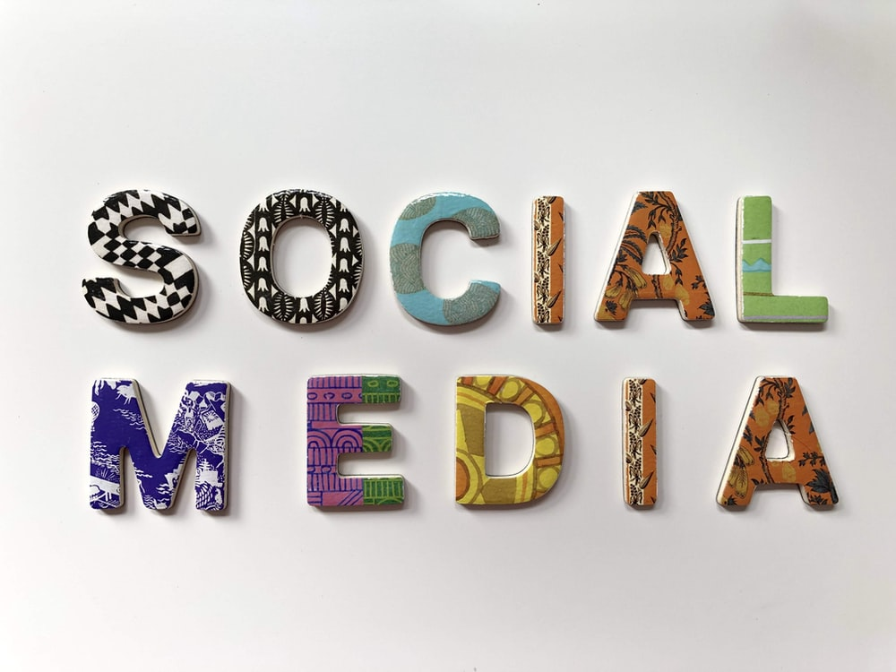 assorted-color social media signage