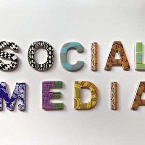 assorted-color social media signage