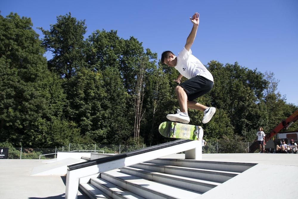 man riding skateboard during daytime