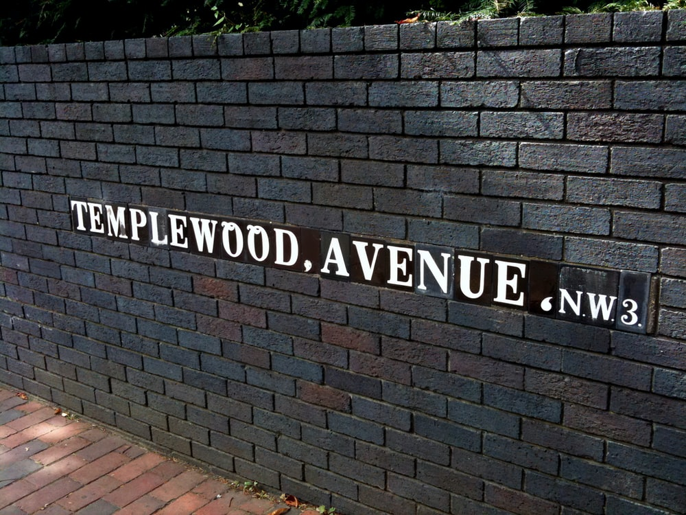 Templewood, Avenue, NW3 sign