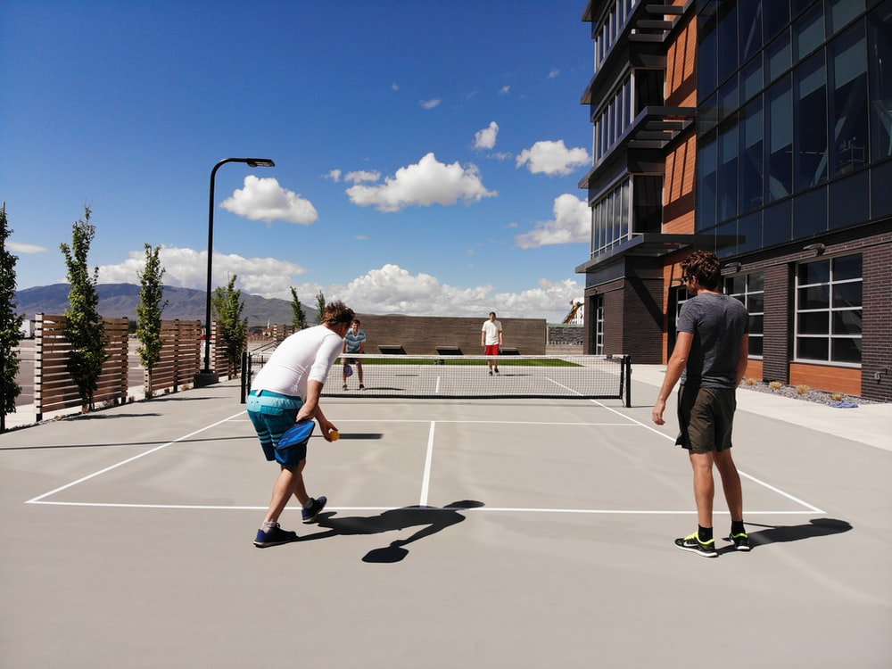 two men about to play tennis