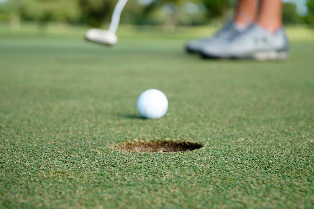 white golf ball