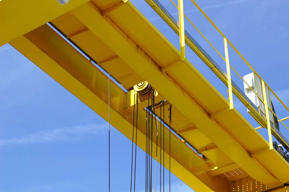 yellow metal rack