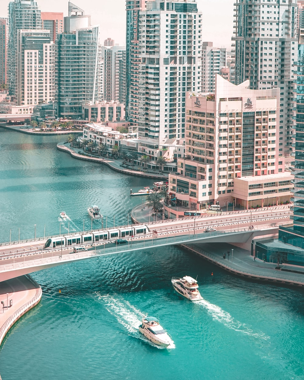 cheap universities for engineering in UAE: aerial photography of bridge