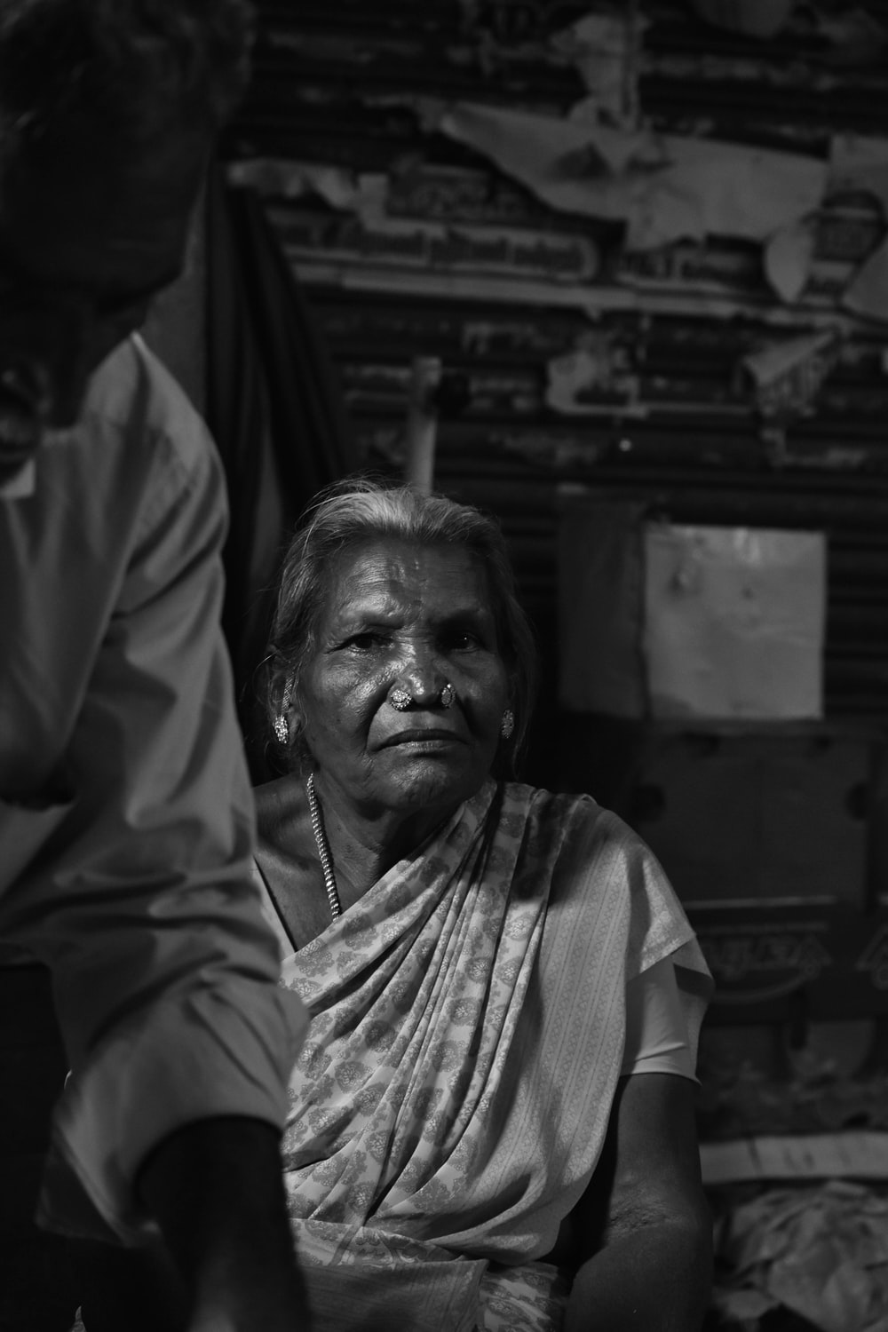 grayscale photography of woman wearing dress
