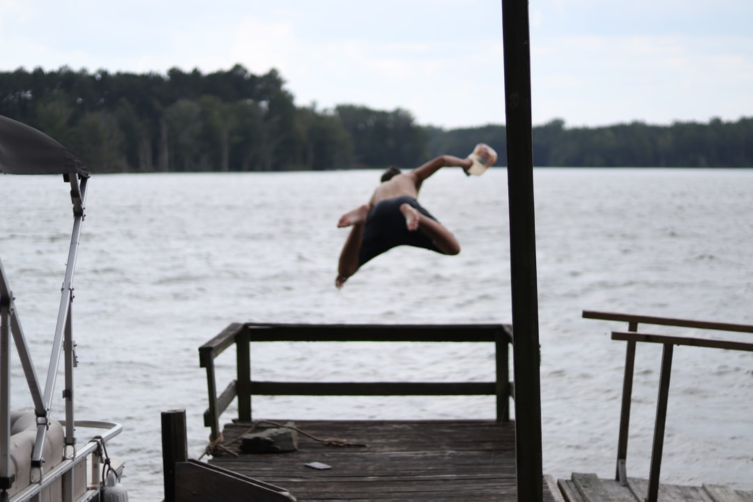 Jumping in the lake with a gallon of sweet tea.
