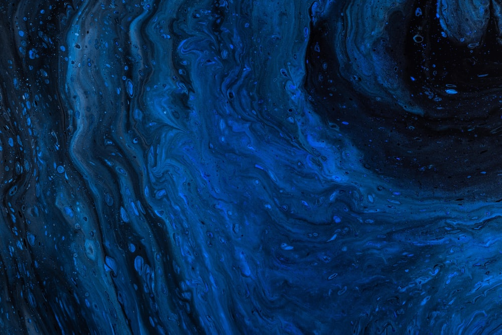 blue and black painting