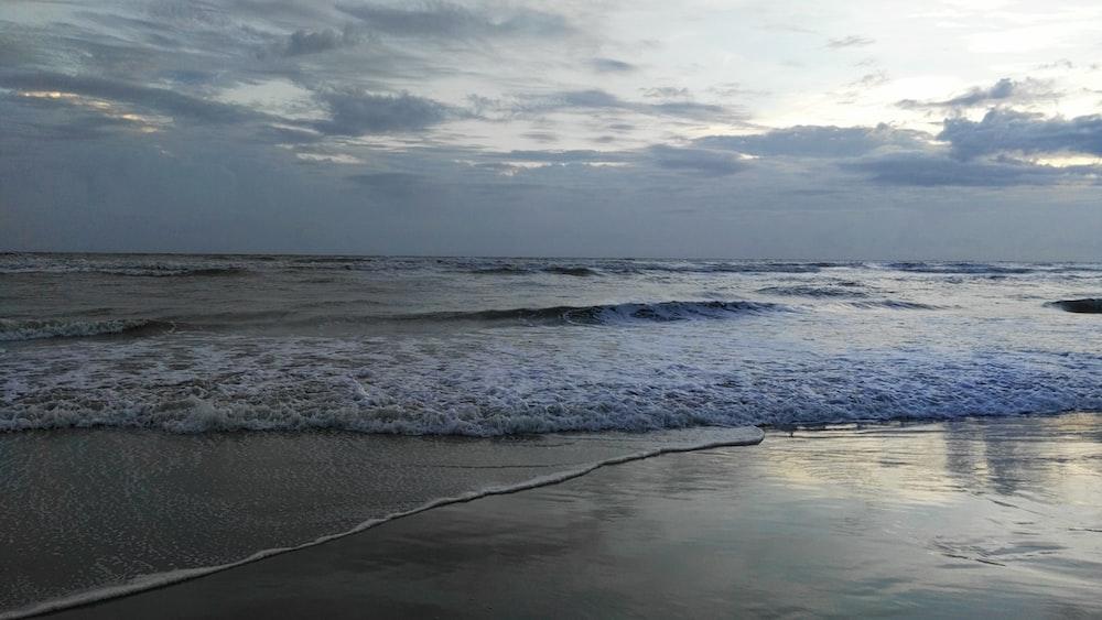 gray sand beach