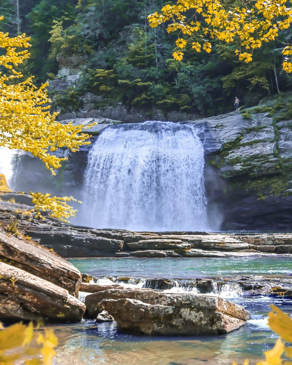 raging waterfalls