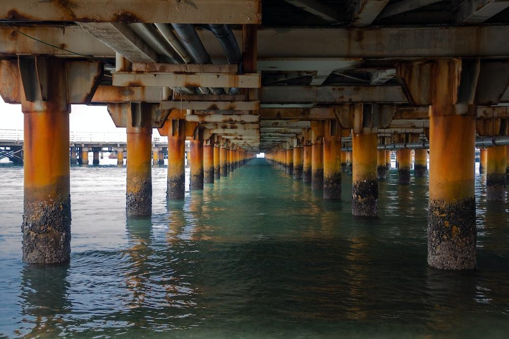 under the dock bridge