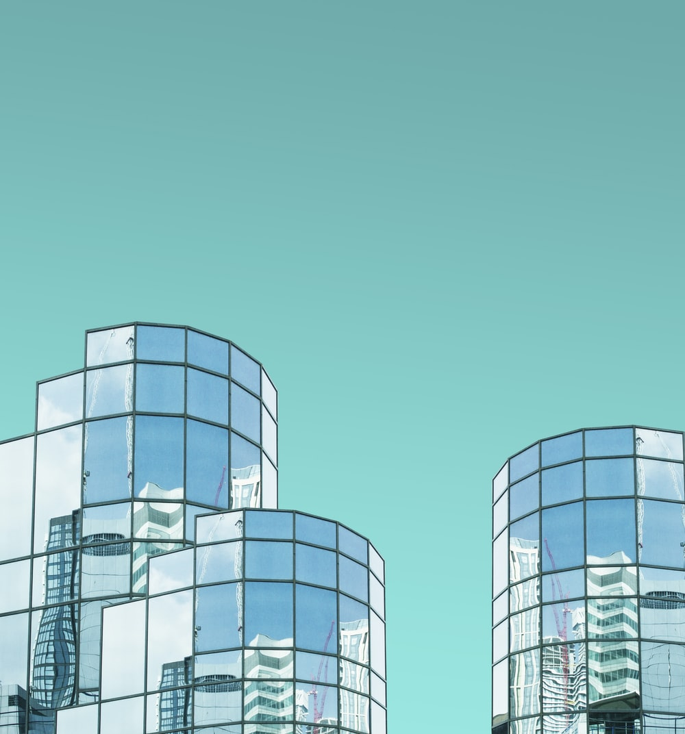 three high rise buildings