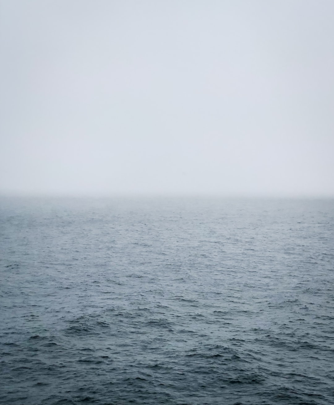 Mist in the middle of the Baltic Sea