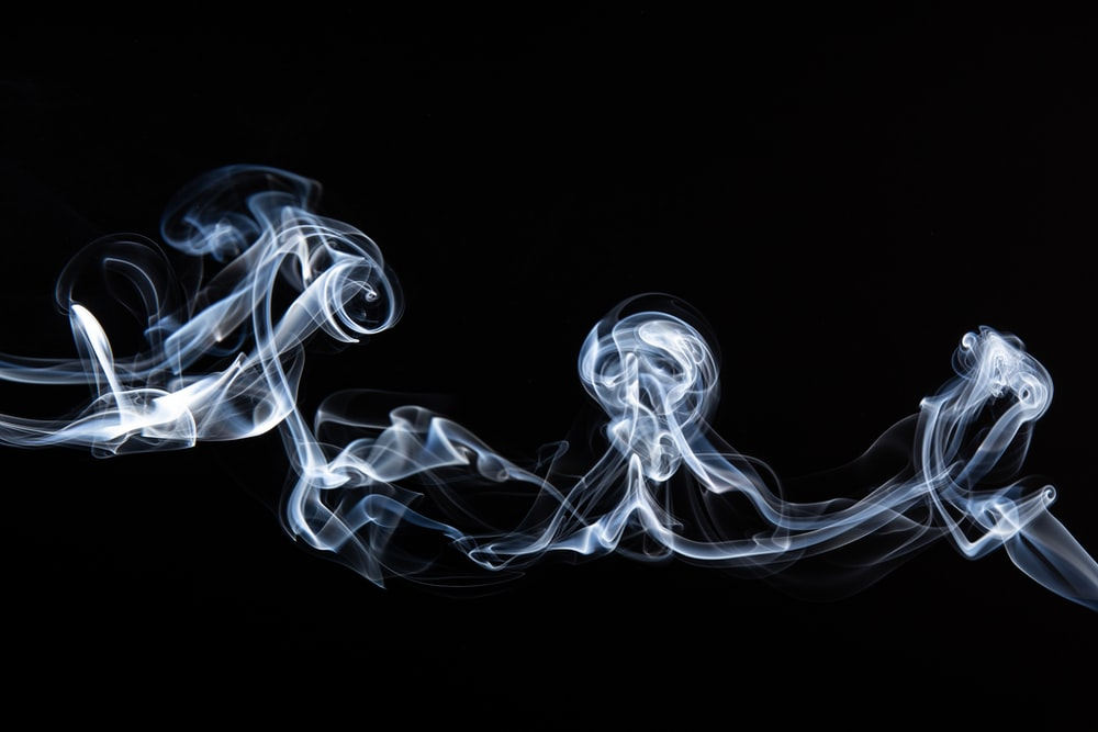white smoke on black backgroundd