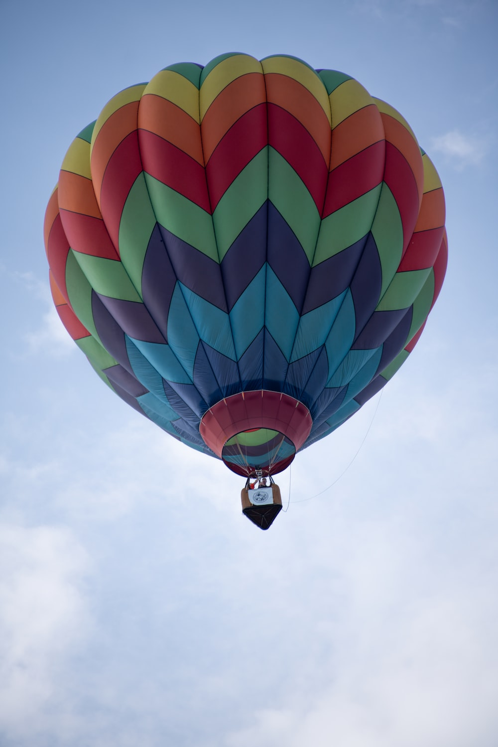 multicolored air balloon in air during daytime