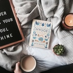Hygge book on blanket