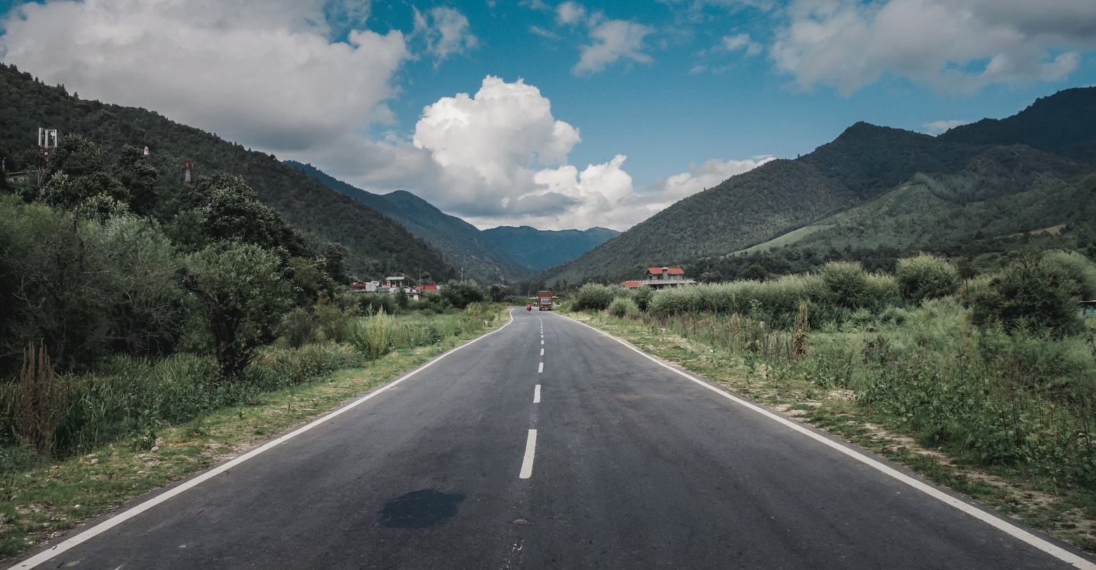 A road view in Arunachal Pradesh