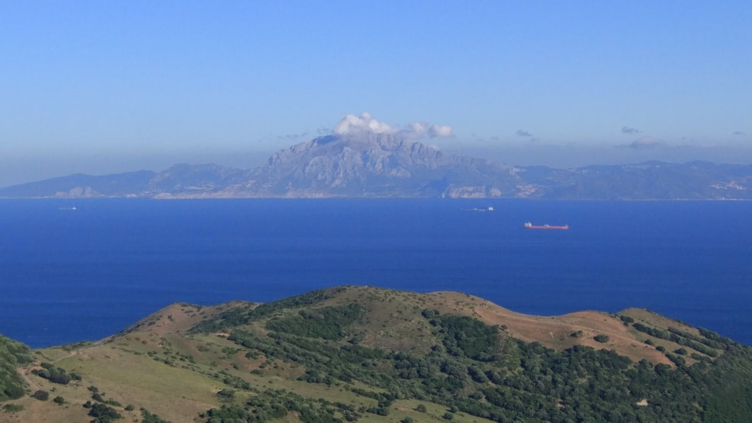 Gibraltar's Strait from Spain. The mountains in the background are Africa, Morocco. One of the most important strategic points all around the world, the entrance to the Mediterranean Sea