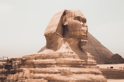 the sphynx, egypt cairo zoom background