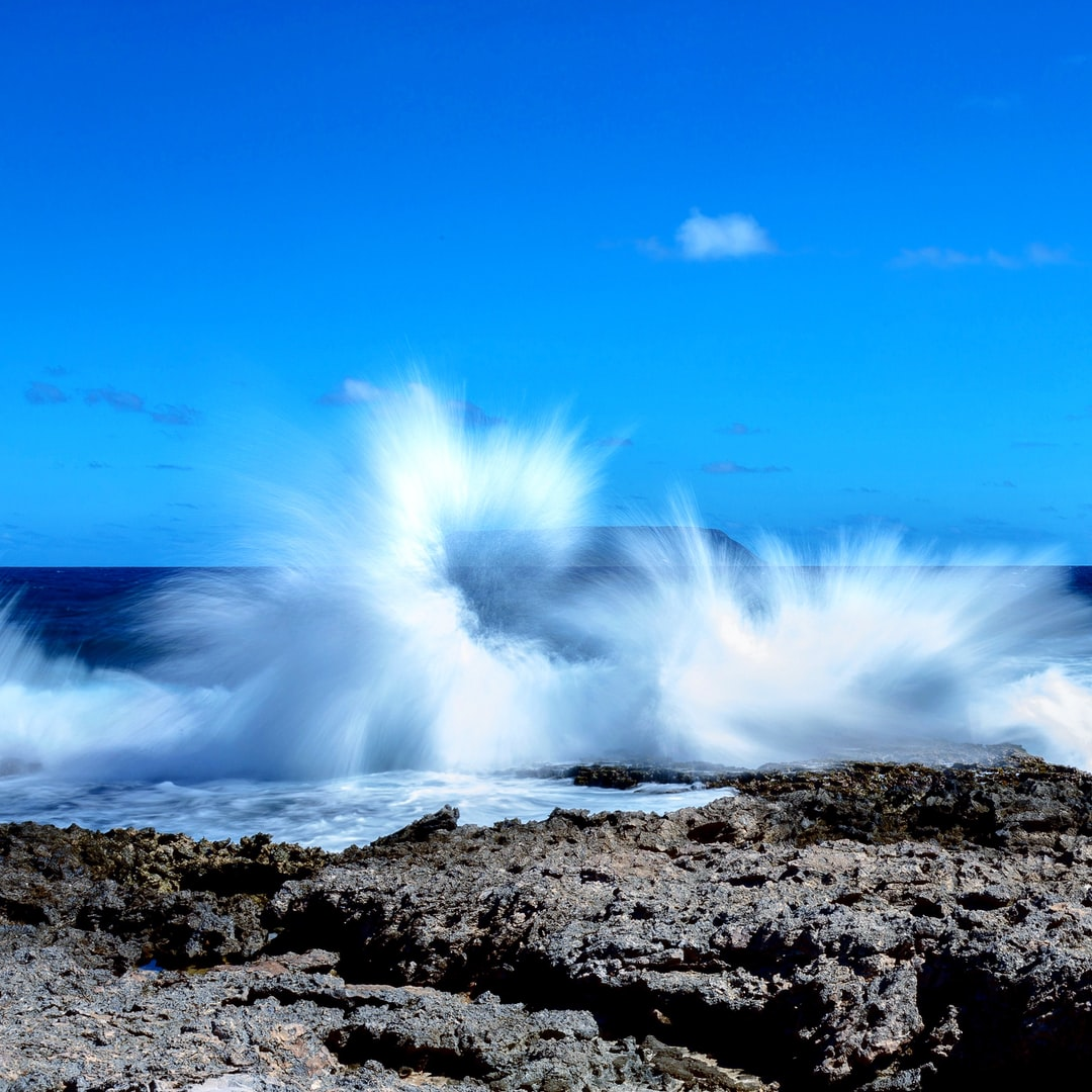 Standing on the most eastern tip of Grande-Terre, Guadeloupe, watching waves crash against the reefs, with this incredible blue sky as background.