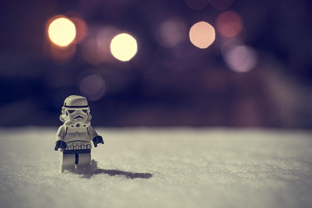white Lego toy