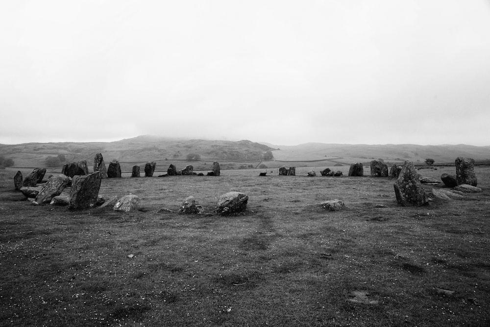 stones arranged in circle