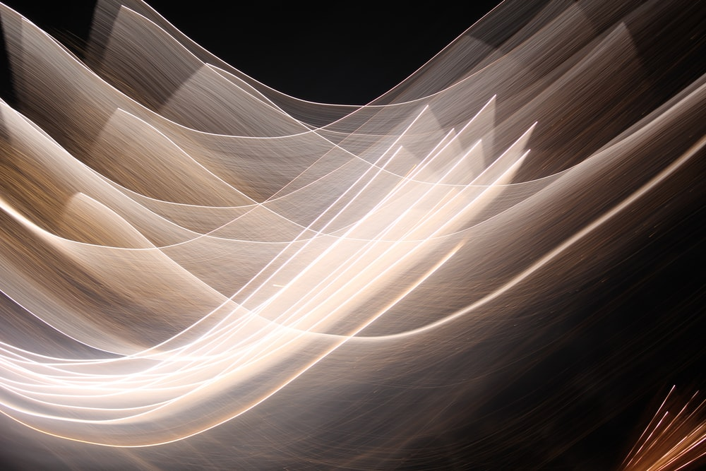 time-lapse photography of light in dark