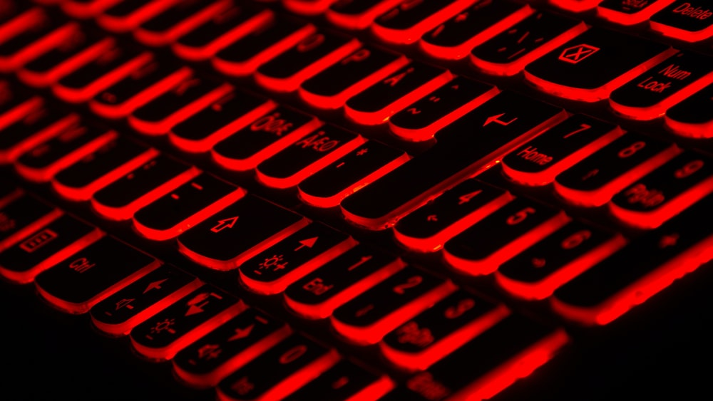 red LED keyboard