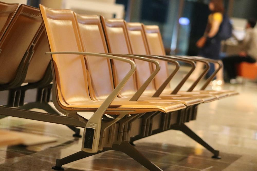 gray gang chair
