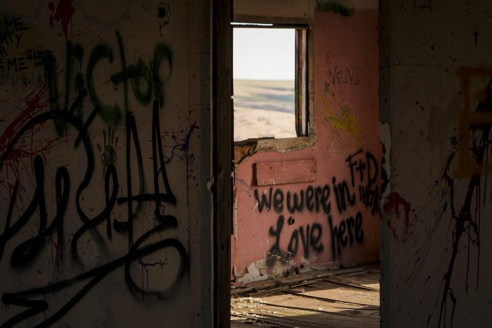 black vandals inside house