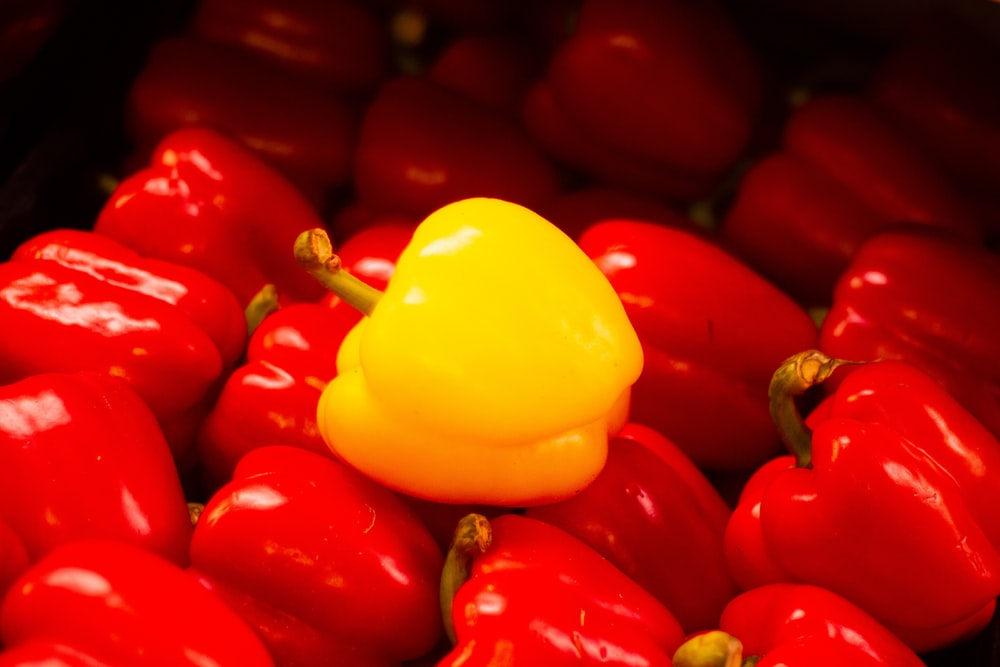 red and yellow bell peppers