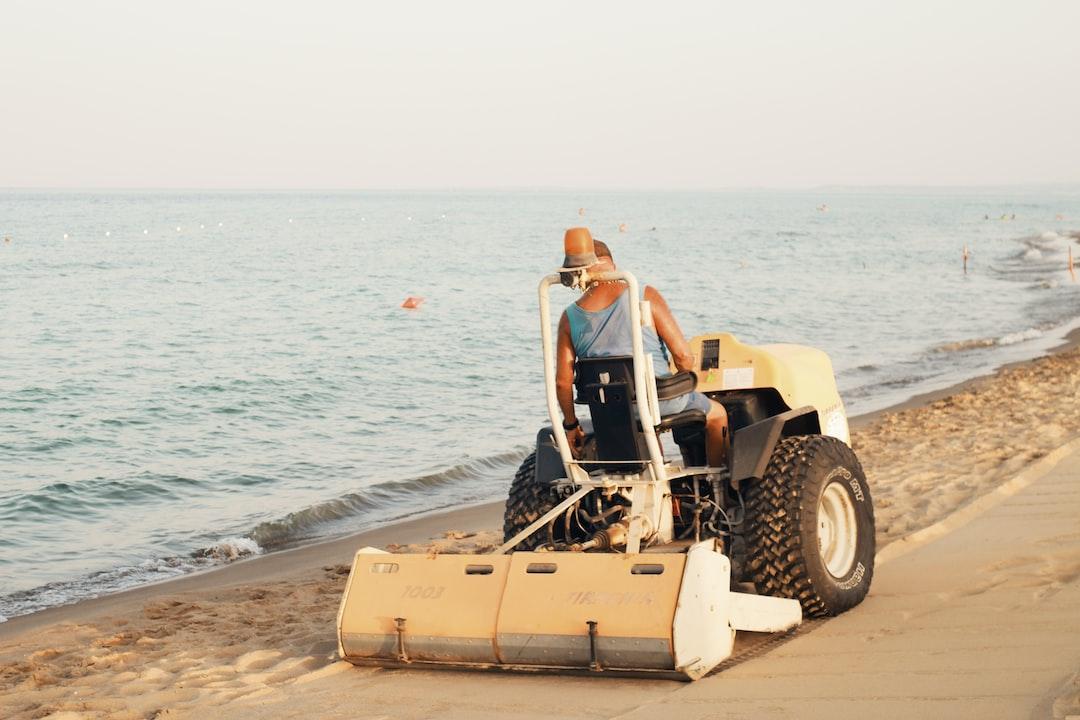 Tourism upkeeping in Medditarean beach