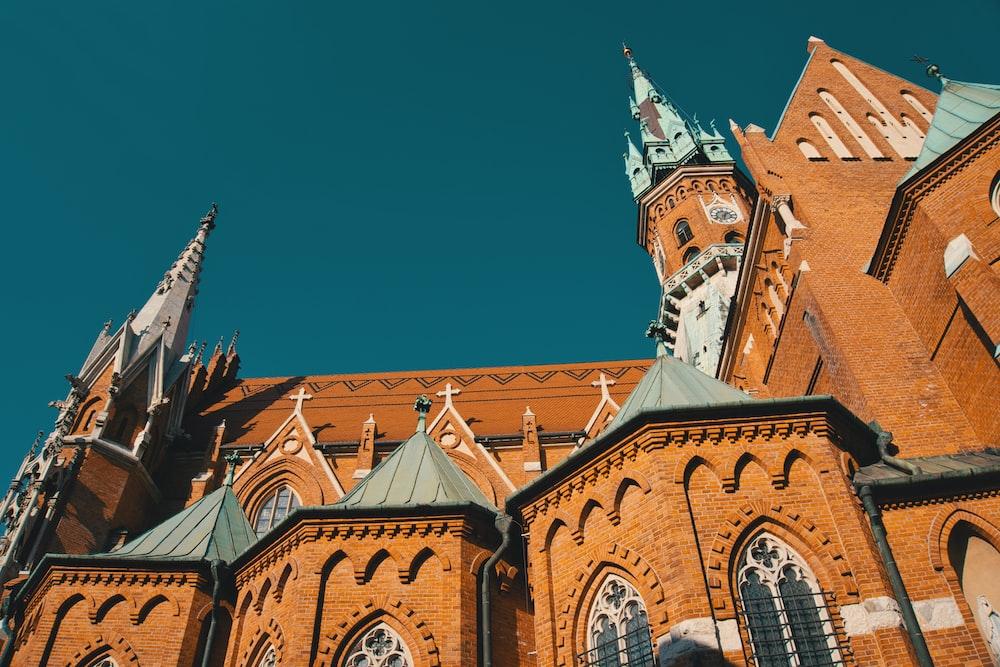 orange and gray church