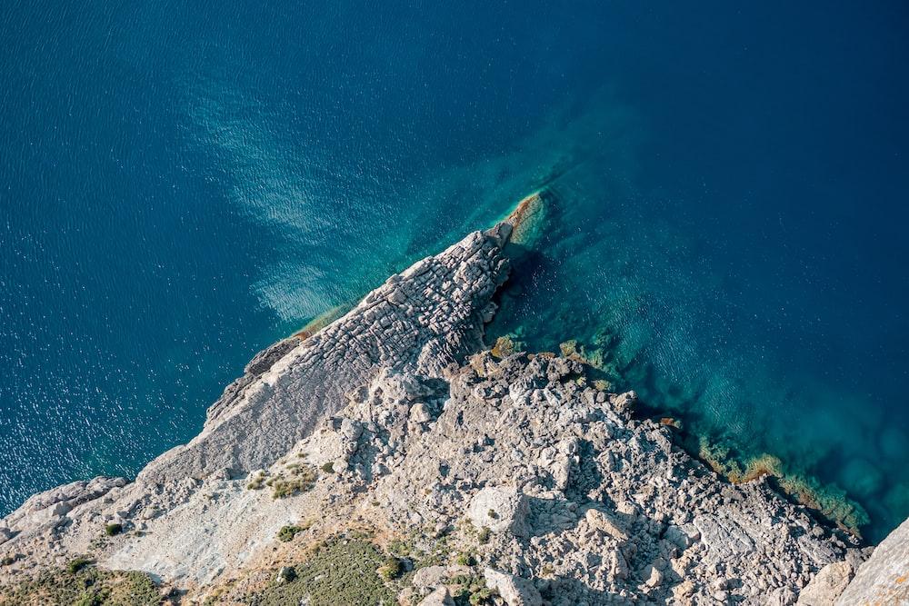 body of water near island